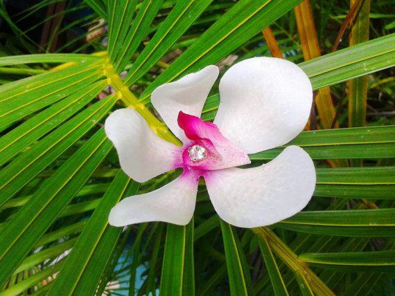 NUZIALE capelli fiore Clip di capelli avorio di MalamaPuaBridal