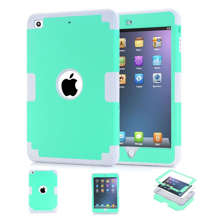 NEW! For Case Funda iPad Mini Case Mini 2 3 1 Heavy Duty 3 Layers Detachable Rugged Coque Case Shockproof Defendse Cover 11Color #Affiliate