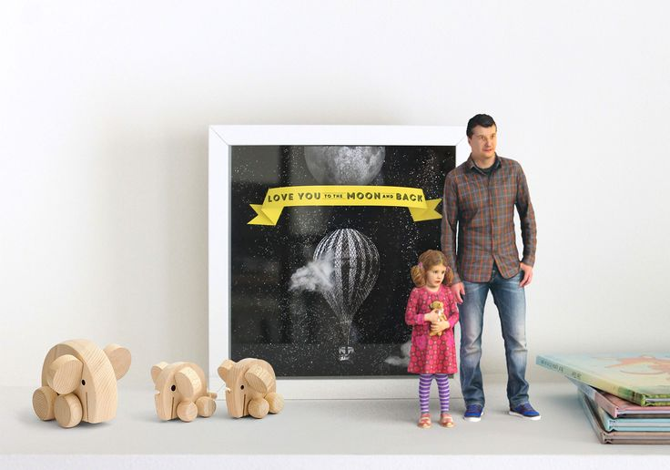 it's you - 3D Printed miniatures - father & daughter - fathers day www.its-you.gr