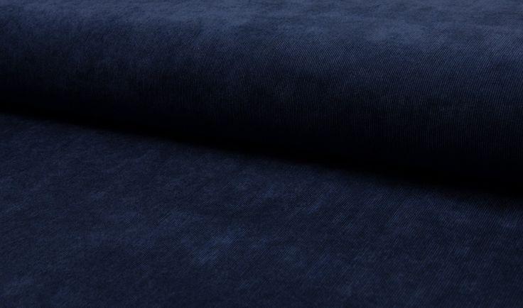 Tissu velours cotelé uni bleu marine : Tissus Habillement, Déco par tissusdimitri