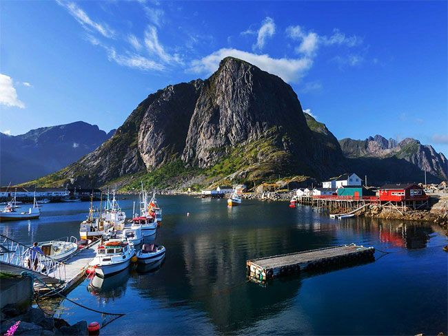 Visit the world's largest deepwater coral reef in the Lofoten Islands, an archipelago off the coast of Norway that lies within the Arctic circle. It's home to wildlife like otters, moose, puffins, and more.
