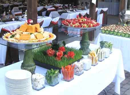 image detail for beach theme wedding reception tables and buffet food