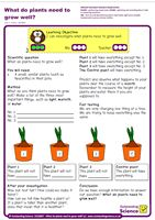 Outstanding Science Year 2 - Plants | What do plants need to grow well