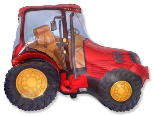 """Red Tractor 26"""" Foil Balloon - Farmyard Party: Amazon.co.uk: Toys & Games £3.40"""