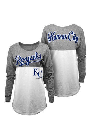Kansas City Royals Womens Grey Slub Long Sleeve Spirit Tee http://www.rallyhouse.com/kansas-city-royals-womens-grey-slub-spirit-ls-tee-88880740?utm_source=pinterest&utm_medium=social&utm_campaign=Pinterest-KCRoyals $39.99