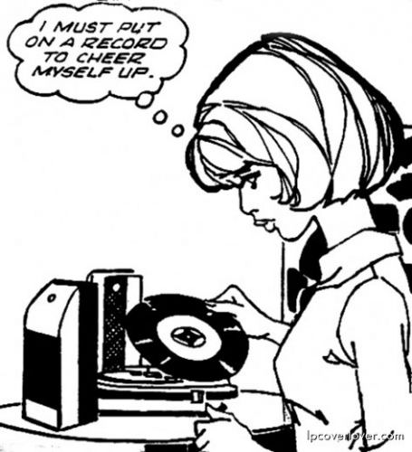 you go, girl: Music, Life, Cheer Up, Favorite Things, Records Cartoon, Illustration, Vintage Cartoon, Vinyls Passion, Vinyls Records