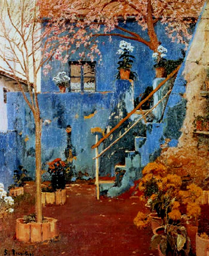Santiago Rusiñol Prats (1861-1931) - Patio Azul
