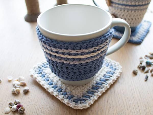 Tutorial Paso a Paso: Set de sujeta tazas a crochet