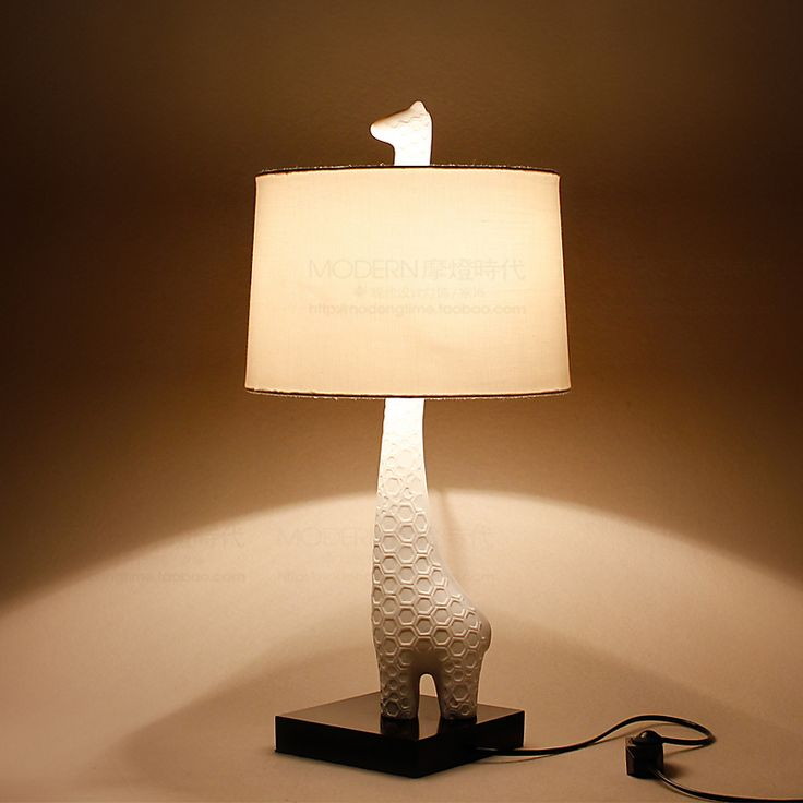 Creative Table Lamp Giraffe Style Nordic Modern Child Bedside Decoration Luminaire E27 110-240V US $78.91