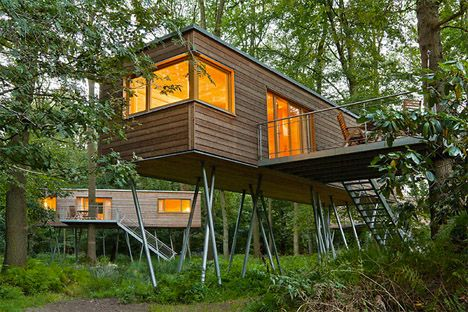 Cabins in the Canopy: 13 Modern Tree Houses by Baumraum - I want Whispering Tree Suites