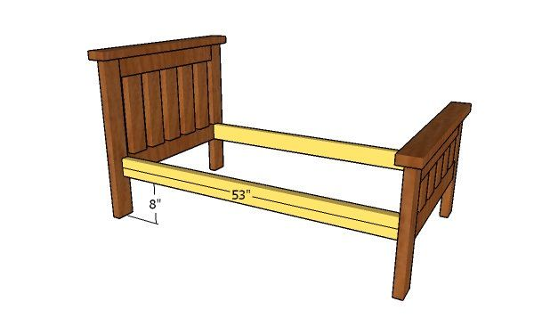 2x4 Toddler Bed Plans Howtospecialist How To Build Step By Step Diy Plans In 2020 Diy Toddler Bed Toddler Bed Simple Bed