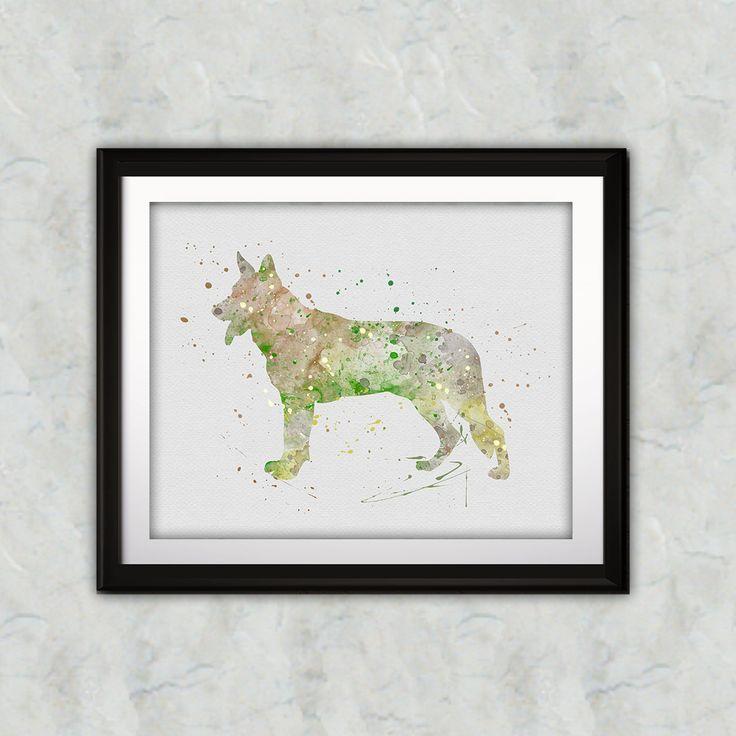 German Shepherd Dog art prints, wall paintings, wall art prints, posters, decor