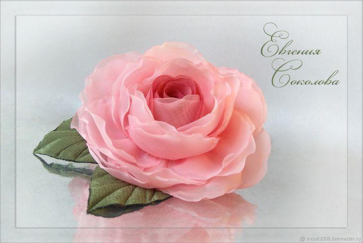 Розовая роза в прическу – купить в интернет-магазине на Ярмарке Мастеров с доставкой