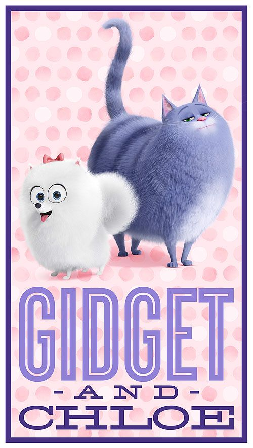 "Secret Life of Pets - Gidet & Chloe - 24"" x 44"" PANEL"