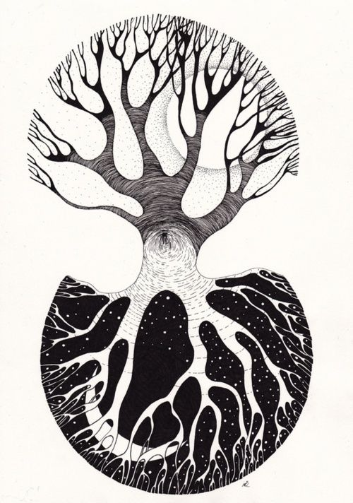 yin yang, great tattoo idea. neat tree inspired.. hm...
