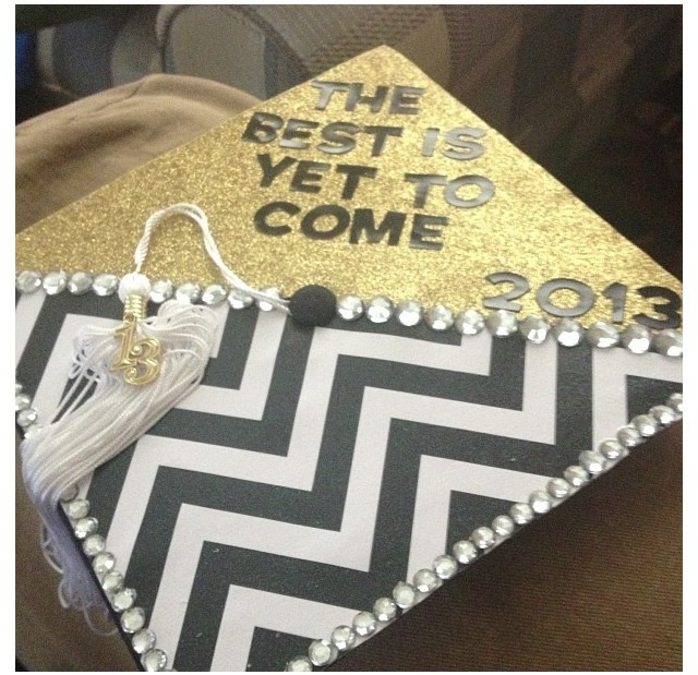 like the idea of a grad cap on a flat page