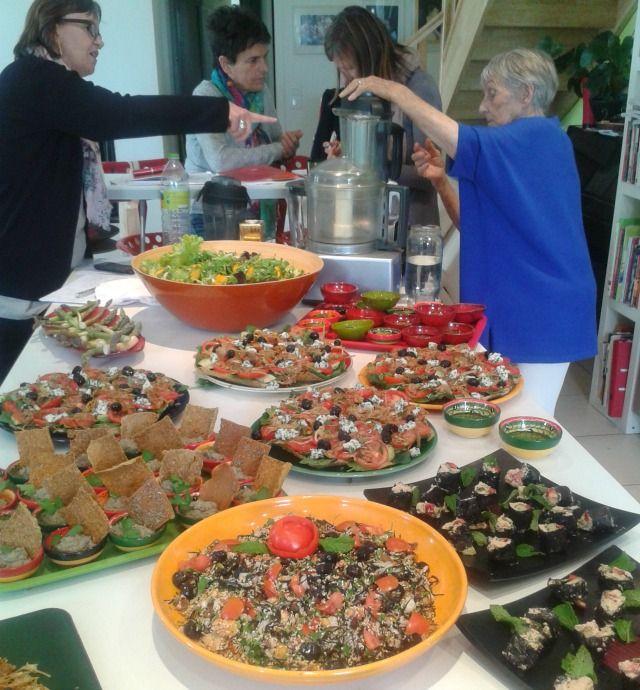 Stage de cuisine vivante avec Irène Grosjean. Voici le résumé du stage de cuisine vivante de 3 jours que j'ai réalisé avec Irène GROSJEAN sur Graveson (13).