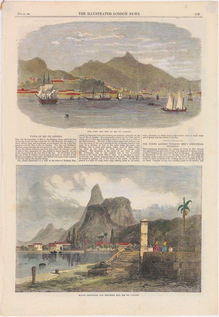 The Port and City of Rio de Janeiro. Mount Corcovado and Botafogo Bay, Rio de Janeiro - Instituto Moreira Salles