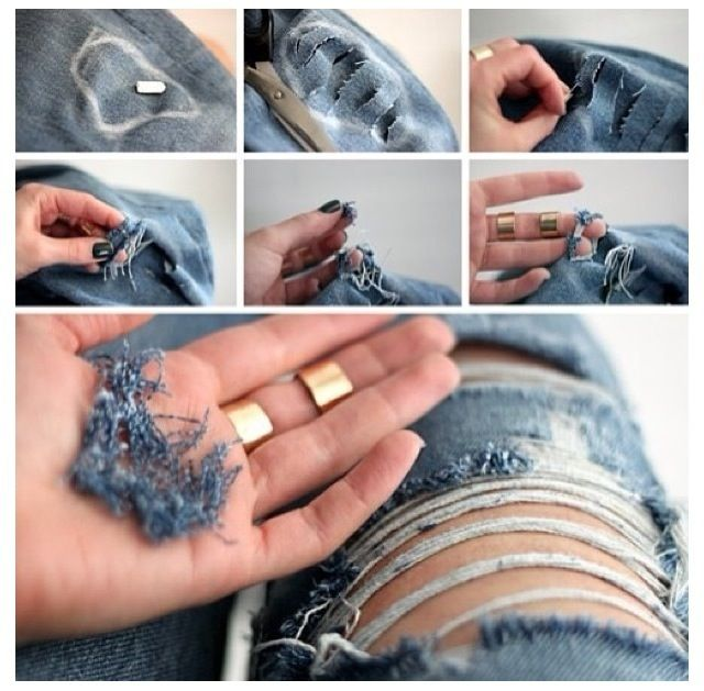 DIY Ripped Jeans! | Distressed jeans, Ripped jeans and Why not