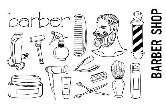 Barber Shop Doodle Clipart Doodle Images Clip Art Doodles