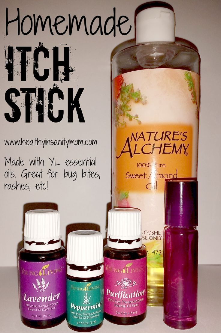 Essential oils for bug bites -- How to make a homemade Itch Stick! Perfect for summer. Pin now, make later!