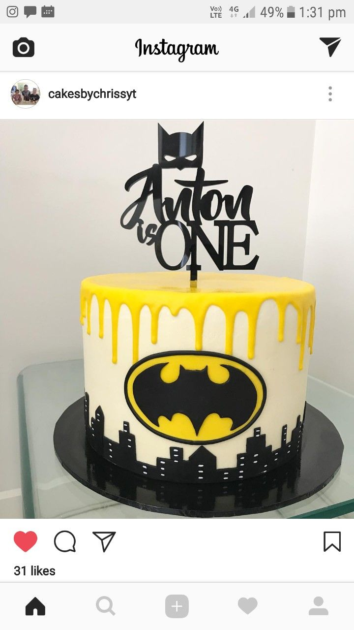 Batman cake by cakesbychrissyt