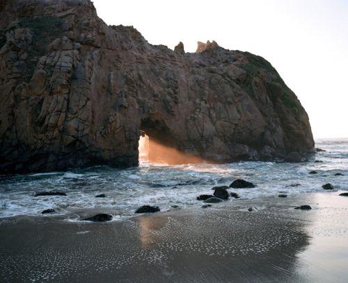sun_peering_through_rocks: Lights, Buckets Lists, Big Sur, The Ocean, Rocks Formations, Front Doors, Mr. Big, Little Spaces, Bex Finch