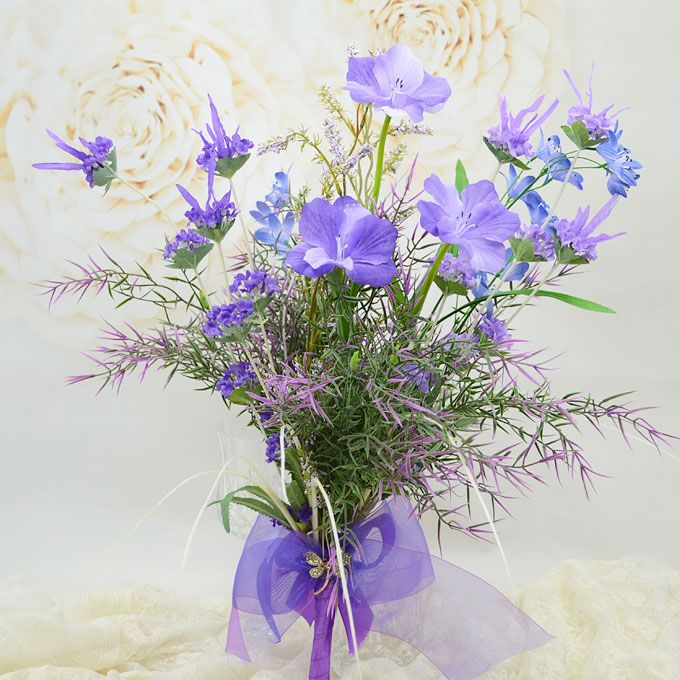 Simulation Silk Artificial Flowers Blue-purple Natural Style Of Small Floral Bridal Bouquets Holding Flowers Wedding Flowers
