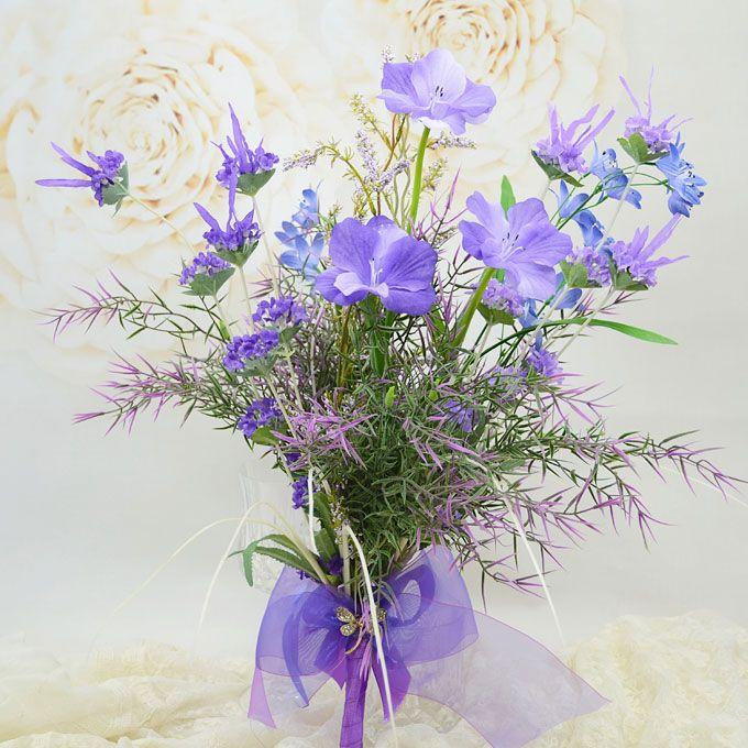 Simulatie Zijde Kunstbloemen Blauw-paarse Natuurlijke Stijl Van Kleine Bloemen Bruidsboeketten Vasthouden Van Bloemen Trouwboeket Bloemen