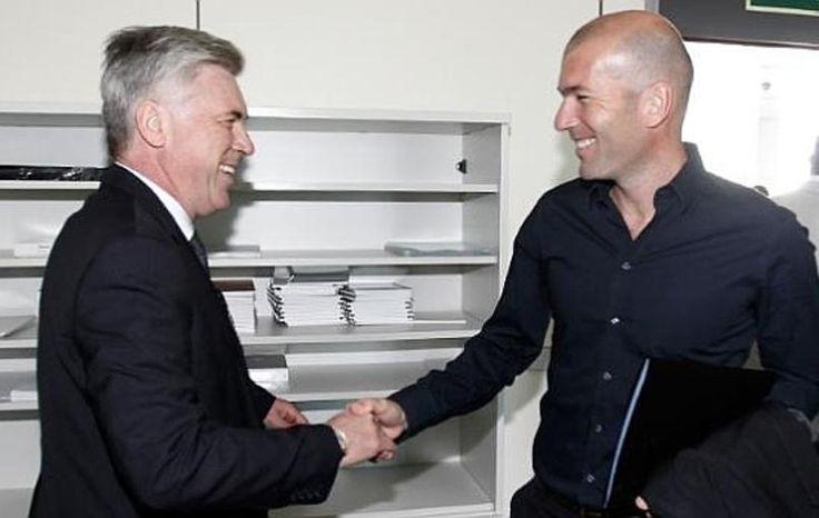 Zidane adjoint d'Ancelotti au Real Madrid