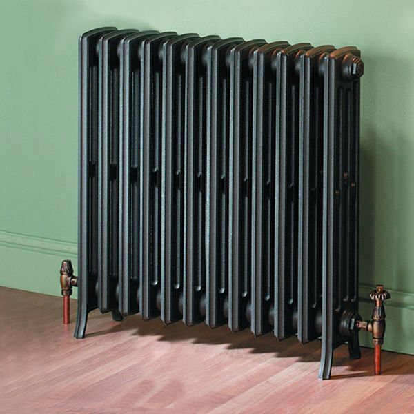 MaxHeat Heritage 4 Column Cast Iron Radiator 960mm High x 720mm Wide - 12 Sections Primer Finish
