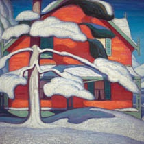 Lawren Harris (1885-1970). Red House, Barrie Ontario, c. 1918 GRoup of Seven