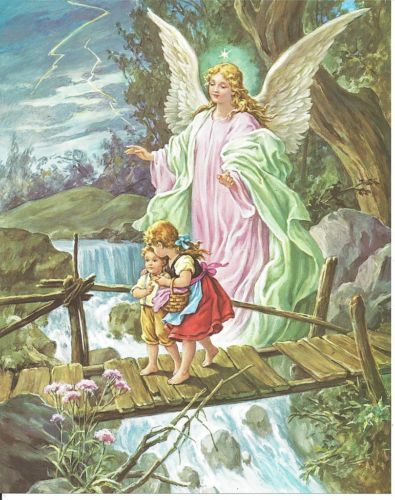 Catholic Print Picture GUARDIAN ANGEL with Children by ...