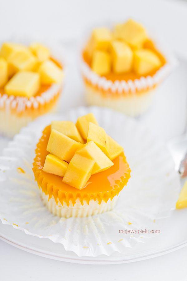 Mini serniczki z mango