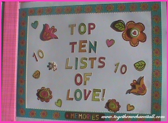 Cute gift idea for hubby!  Site has ideas for lists!!