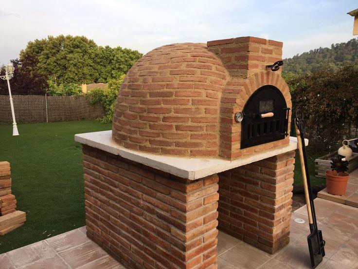 Montaje de horno de Pereruela acabado en ladrillo realizado en Barcelona a nuestro amigo Óscar.