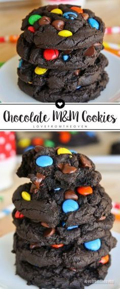 These easy Chocolate M&M Cookies are so rich and delicious! A great base chocolate cookie recipe to use with M&Ms, other kinds of chips, nuts...