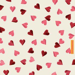 """Pink Hearts"" Pink Heart Pocket Tissues at Emma Bridgewater"