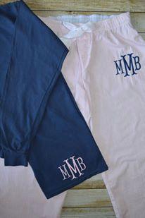 Monogrammed Lounge wear/monogrammed adult seersucker sleep pants/comfort colors longsleeve shirt by DBKMonograms on Etsy https://www.etsy.com/listing/249016480/monogrammed-lounge-wearmonogrammed-adult