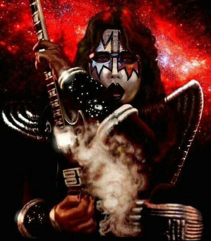 Drawing Of Ace Ace Frehley Kiss Rock Bands Kiss Band