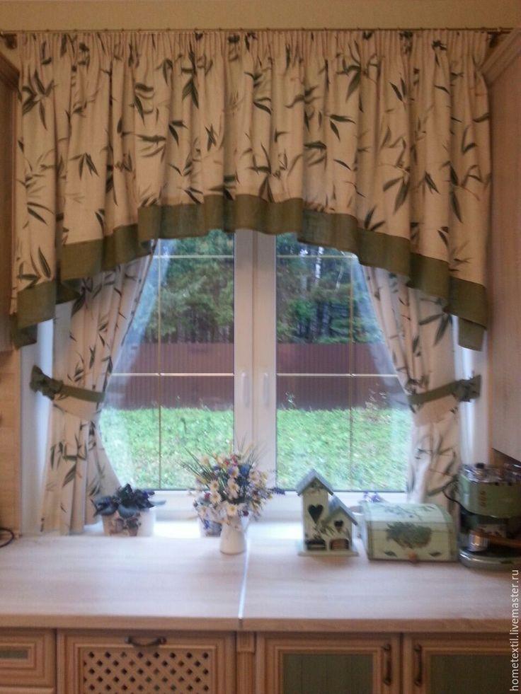 Купить Кухонные шторы - разноцветный, кухонный декор, кухонный интерьер, кухонный текстиль, пошив штор