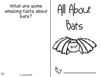 TPT freebie bat book.  Children use vocabulary cards to fill in the blanks & illustrate. Might be perfect for my advanced small group!
