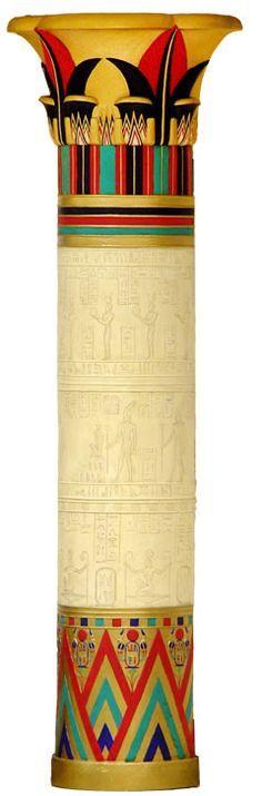 Colorful Egyptian column!