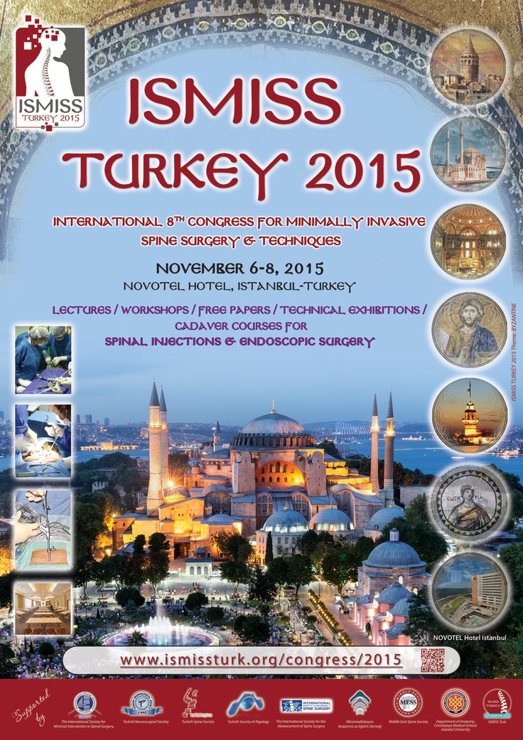 """It is our great pleasure to invite you the """"ISMISS Turkey 2015 Congress"""" which will be held at the Novotel Hotel in Istanbul on November 6-8, 2015."""