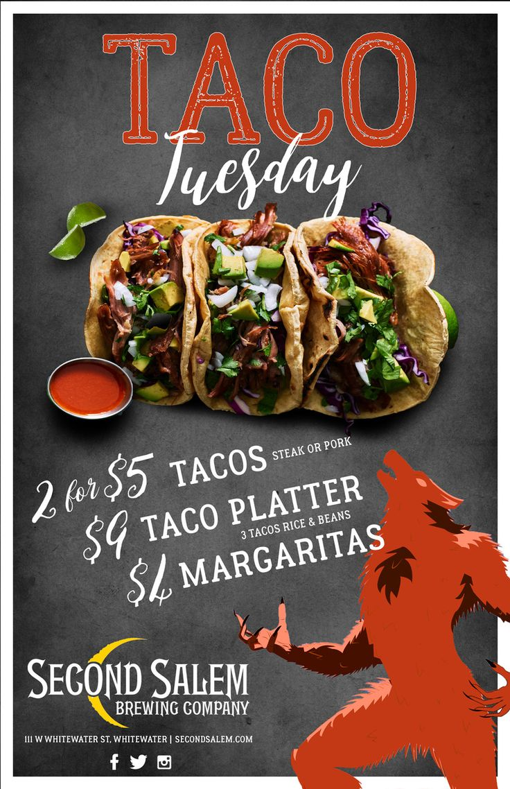 Restaurant Advertising, Taco, Tuesday, Whitewater, Second ...