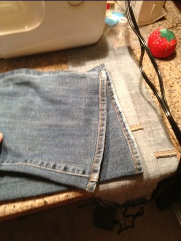 Hem your jeans and keep original hem. Kool Idea