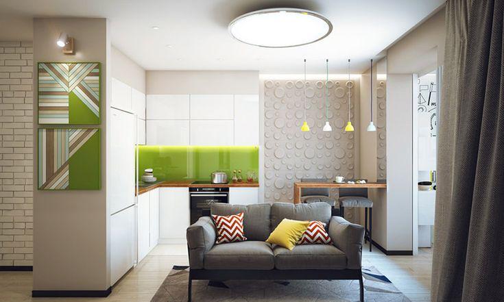 Apartamento de um quarto aconchegante e perfeito para solteiros