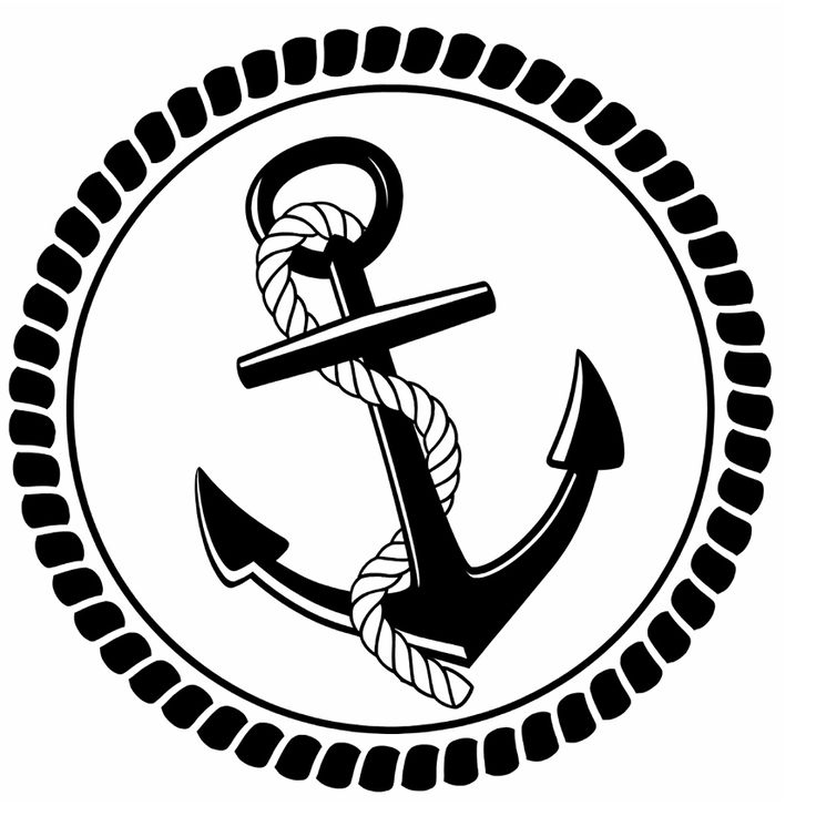 Rope and Anchor Stencil Pattern