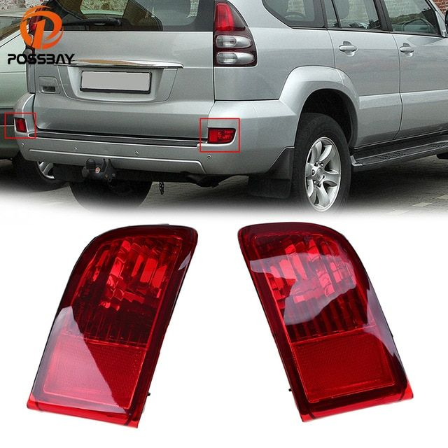 Possbay Red Lens Rear Bumper Reflector Tail Fog Light Housing For Toyota Land Cruiser Prado J120 Gr Toyota Land Cruiser Toyota Land Cruiser Prado Land Cruiser