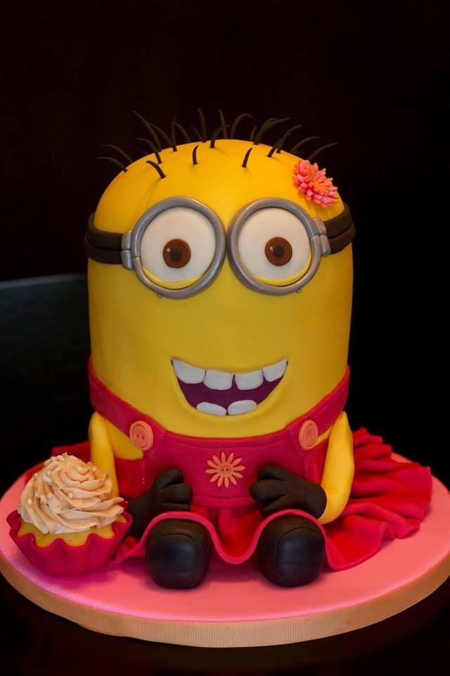Pink Minion Birthday Cake Image Inspiration of Cake and Birthday